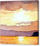 Islay And Cara From Kintyre Scotland Canvas Print