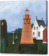 Isle La Motte Vermont Lighthouse Canvas Print