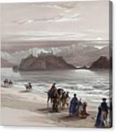 Isle Of Graia Gulf Of Akabah Arabia Petraea Feby 27th 1839 Canvas Print