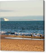Isle Of Wight As Seen From Bournemouth Beach Canvas Print