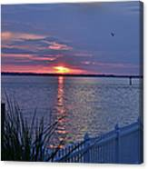 Isle Of Wight Bay Sunset Canvas Print