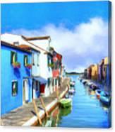 Isola Di Burano Canvas Print