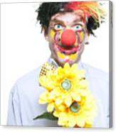 Isolated Clown In A Funny Summer Romance Canvas Print