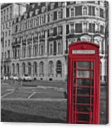 Isolated Phone Box Canvas Print