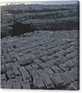 Israel, Jerusalem Mount Of Olives Canvas Print