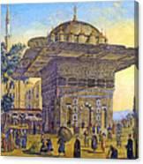 Istanbul Outdoor Bazaar Canvas Print
