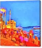 Istanbul Pop Art Canvas Print
