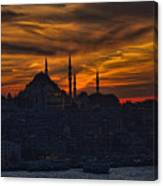 Istanbul Sunset - A Call To Prayer Canvas Print