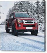 Isuzu In The Snow Canvas Print