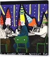 It Is Not A Proper Party Without Hats Canvas Print
