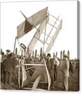 It Was A Good Landing The Pilot Walked Away  Twin Wing Aircraft  Circa 1909 Canvas Print