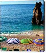 Italian Beach Scene Canvas Print