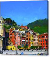 Italian Beachside  Canvas Print