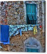 Italian Clothes Dryer Canvas Print