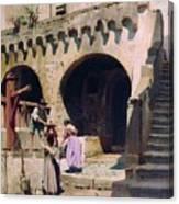 Italian Courtyard Henryk Semiradsky Canvas Print