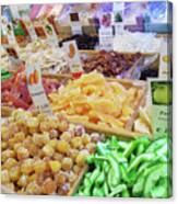 Italian Farmers Market Dried Fruits Canvas Print