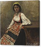 Italian Girl Canvas Print