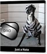 Italian Greyhound Bad Boy Canvas Print