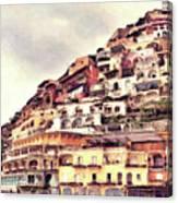 Italian Hillside Village Canvas Print