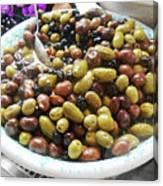 Italian Market Olives Canvas Print