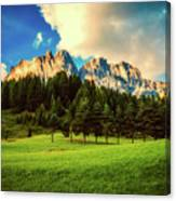 Italian Mountain Meadow Canvas Print
