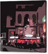 Italian Restaurant At Night Canvas Print