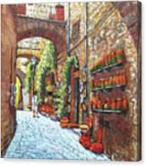 Italian Street Market Canvas Print