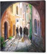 Italian Street Scene Canvas Print