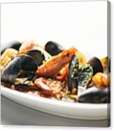 Italian Traditional Seafood Stew  Canvas Print