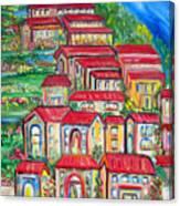 Italian Village On A Hill Canvas Print