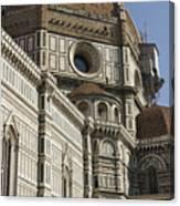 Italy, Florence, Facade Of Duomo Santa Canvas Print