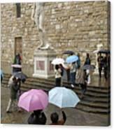 Italy, Florence, Piazza Della Signora Canvas Print