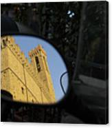 Italy, Florence, Reflection In Mirror Canvas Print