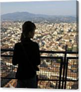Italy, Florence, Tourist Looks Canvas Print