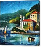 Italy  Lake Como  Villa Balbianello Canvas Print
