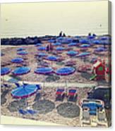 Italy, Sanremo, The Beach. Canvas Print