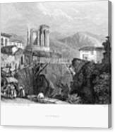 Italy: Tivoli, 1832 Canvas Print