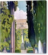 Italy Tivoli Vintage Travel Poster Restored Canvas Print