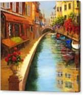 Italys Canal Street  Canvas Print