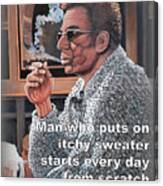 Itchy Sweater Canvas Print