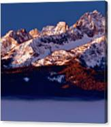 Its A New Day First Light Sawtooth Range Canvas Print