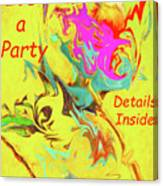 It's A Party Abstract Canvas Print