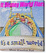 It's A Small World Poster Art Canvas Print