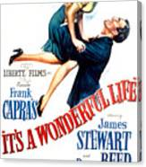 Its A Wonderful Life, Donna Reed, James Canvas Print
