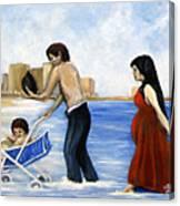 It's Tough In Coney Island Canvas Print