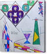 It's Wine O'clock Text Canvas Print