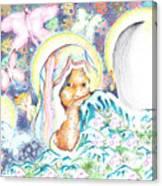 Itzpapalotl Y La Joven Virgin Canvas Print