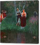 Ivan Kupala. Fortunetelling For Wreaths. Canvas Print