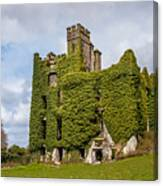 Ivy Covered Ruined Castle Ireland Canvas Print