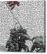 Iwo Jima War Mosaic Canvas Print